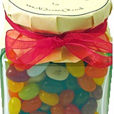 Glass Gift Jar - Gourmet Jelly Beans