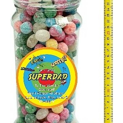 It's A Foot Of Sweets! Jumbo Sour Sweets Selection Jar