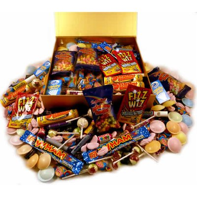 A Personalised Large Luxury Box of Retro Sweets