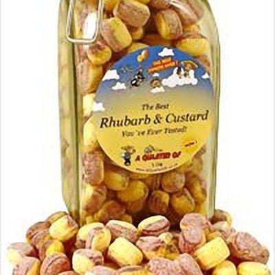 The Best Rhubarb And Custard in a Kilner Jar