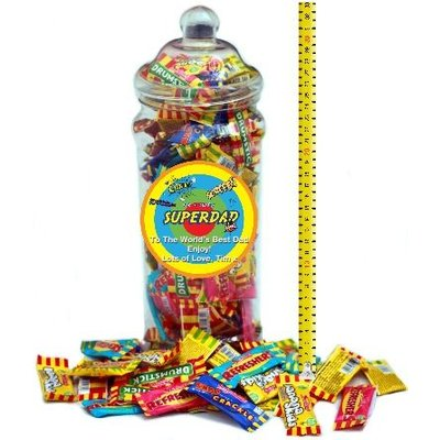 It's A Foot Of Sweets! Jumbo Personalised Selection Jar Of Classic Chew Bars To Chomp on