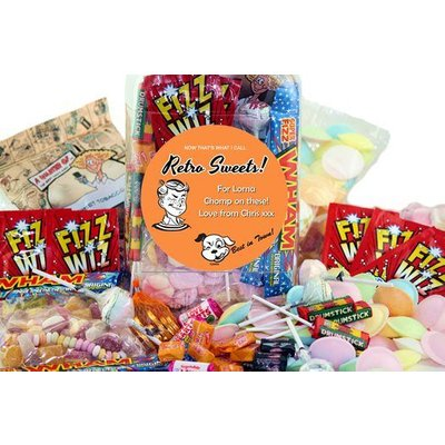 Personalised Jar of Retro Sweet Classics