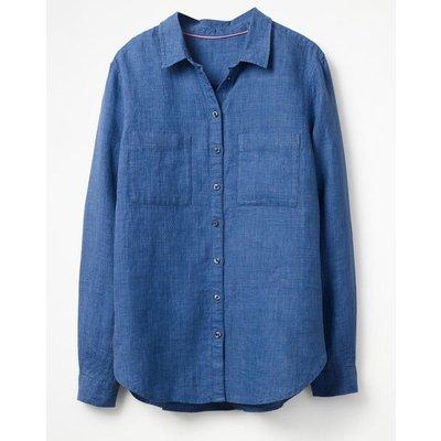 The Linen Shirt Blue Women Boden, Blue