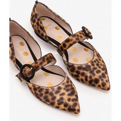 Evie Pointed Flats Brown Women Boden, Leopard