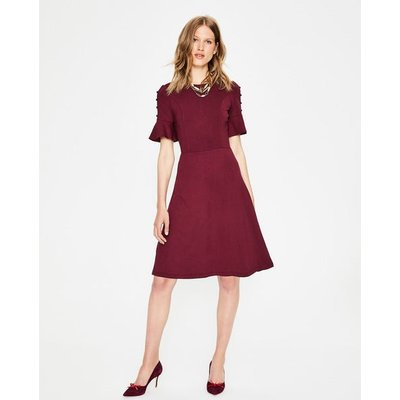 Alexis Jersey Dress Purple Women Boden, Burgundy