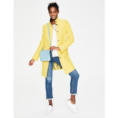 Hengrave Coat Yellow Women Boden, Yellow