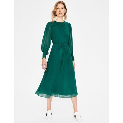 Alba Midi Dress Green Women Boden, Navy