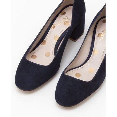 Hope Mid Heel Courts Navy Women Boden, Navy