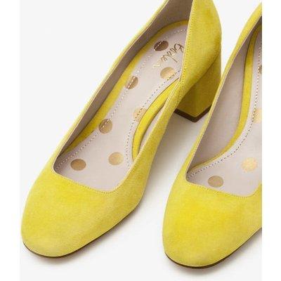 Hope Mid Heel Courts Yellow Women Boden, Yellow