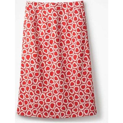 Modern A-line Skirt Red Women Boden, Pink