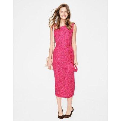 Camille Midi Dress Pink Women Boden, Pink
