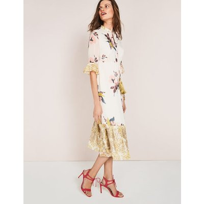 Cressida Tassel Dress Ivory Women Boden, Ivory