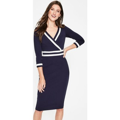 Nellie Ponte Dress Navy Women Boden, Navy