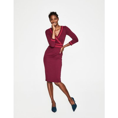 Nellie Ponte Dress Purple Women Boden, Burgundy