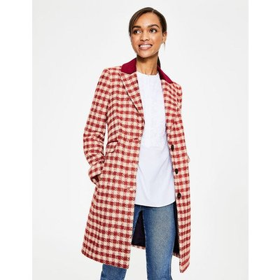 Eastbourne Coat Multi Women Boden, Pink