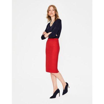 Winsford Pencil Skirt Red Women Boden, Red