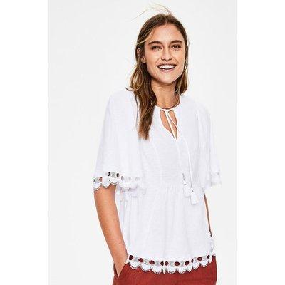 Ayla Jersey Top White Women Boden, White