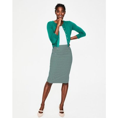 Richmond Pencil Skirt Navy Women Boden, Blue