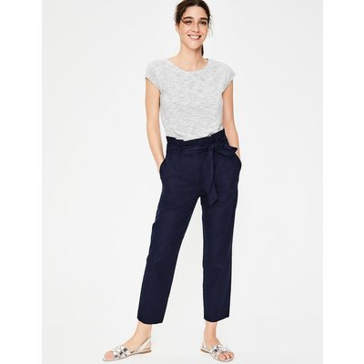 St Ives Paperbag Trousers Navy Women Boden, Navy