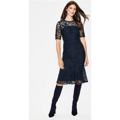 Bryony Lace Dress Navy Women Boden, Navy