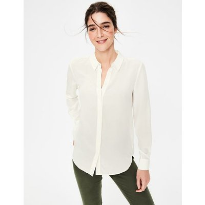 Silk Shirt Ivory Women Boden, Ivory