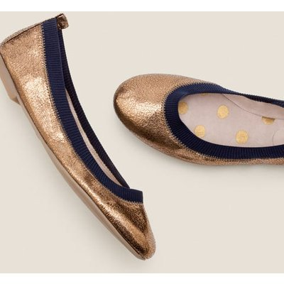 Hettie Ballerinas Gold Women Boden, Navy