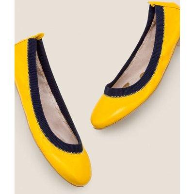 Hettie Ballerinas Yellow Women Boden, Navy