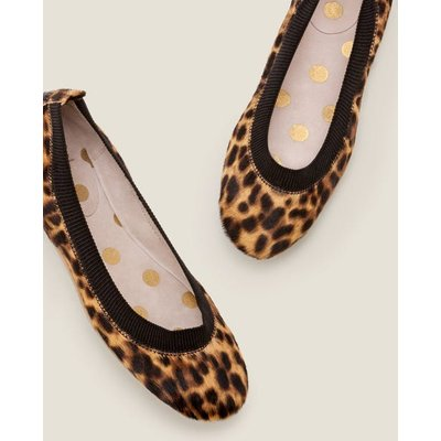 Hettie Flexi Ballerinas Tan Leopard/Black Women Boden, Tan Leopard/Black