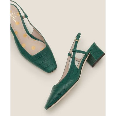 Kiera Heeled Slingbacks Green Women Boden, Green