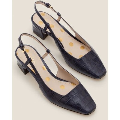 Kiera Heeled Slingbacks Navy Women Boden, Navy
