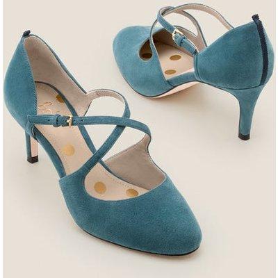 Vanessa Mid Heels Blue Women Boden, Blue