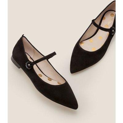 Hallie Embellished Flats Black Women Boden, Black
