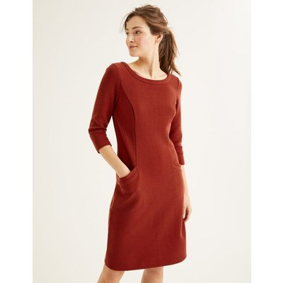 Jasmine Ottoman Dress Brown Women Boden, Brown