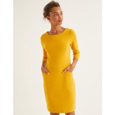 Jasmine Ottoman Dress Yellow Women Boden, Orange