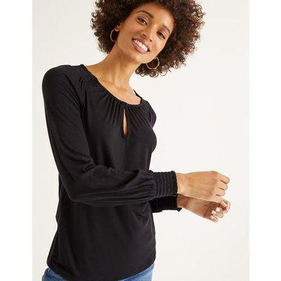 Vicky Jersey Top Black Women Boden, Black