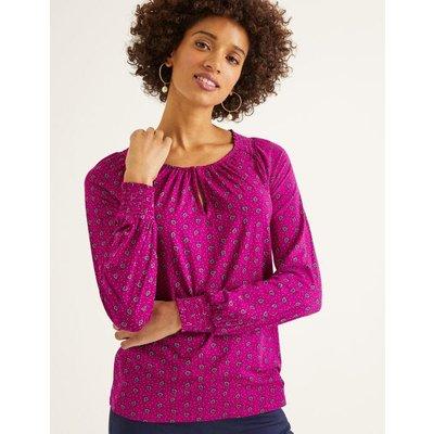Vicky Jersey Top Purple Women Boden, Purple