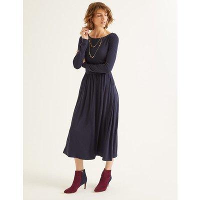 Lucille Jersey Midi Dress Navy Women Boden, Navy