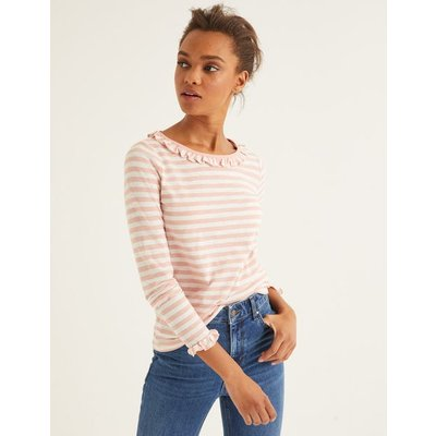 Olive Jersey Top Pink Women Boden, Ivory