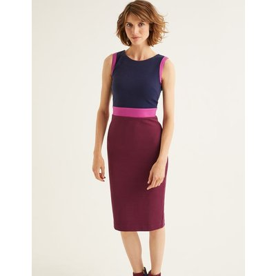 Celia Ottoman Dress Purple Women Boden, Purple