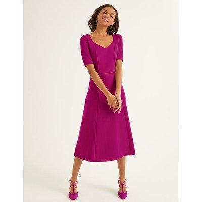 Hadley Ottoman Midi Dress Purple Women Boden, Navy