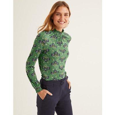 Connie Jersey Top Green Women Boden, Green