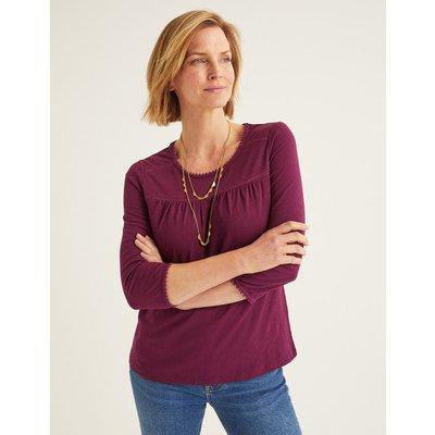 Julia Jersey Top Purple Women Boden, Purple