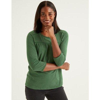 Julia Jersey Top Green Women Boden, Green
