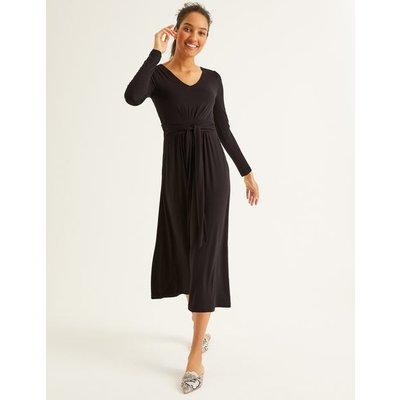 Ferne Jersey Midi Dress Black Women Boden, Black