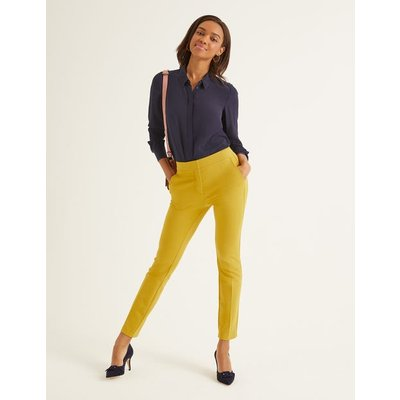 Hampshire 7/8 Trousers Yellow Women Boden, Orange