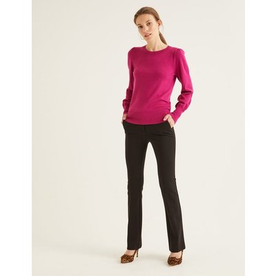 Hampshire Bootcut Trousers Black Women Boden, Black