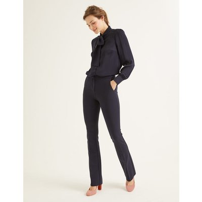 Hampshire Bootcut Trousers Navy Women Boden, Navy
