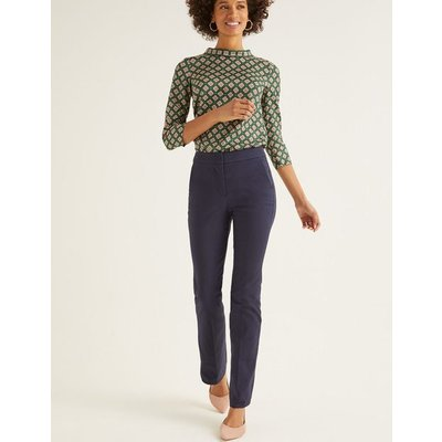 Richmond Bootcut Trousers Navy Women Boden, Navy
