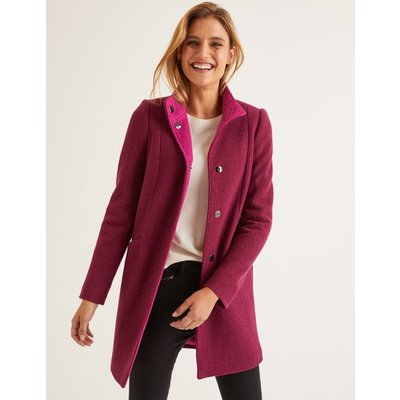Hengrave Coat Purple Women Boden, Purple