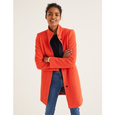 Hengrave Coat Orange Women Boden, Orange